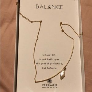 Dogeared gold dipped balance necklace